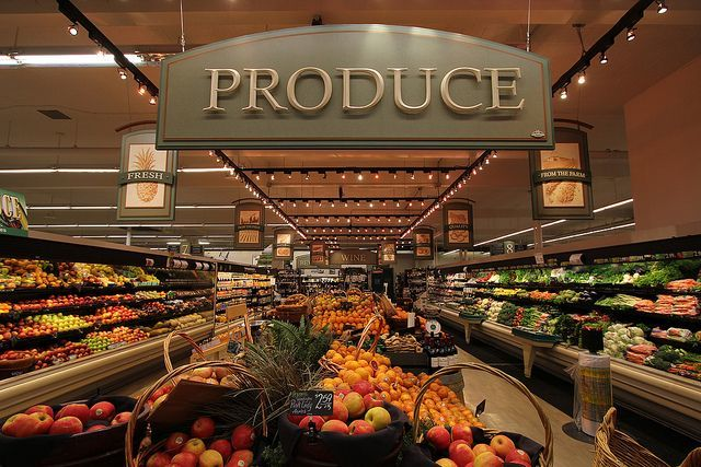 Produce setion of grocery