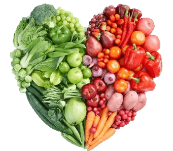 Shape of a Heart Made of Vegetables